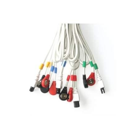 Câbles connexion COMPEX snap 6P (blanc)