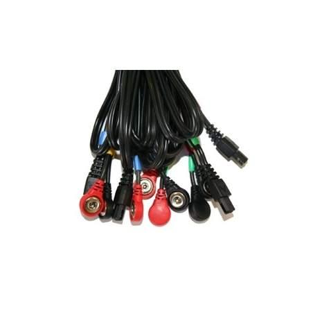 Cables COMPEX conexión Snap 6P (negro)