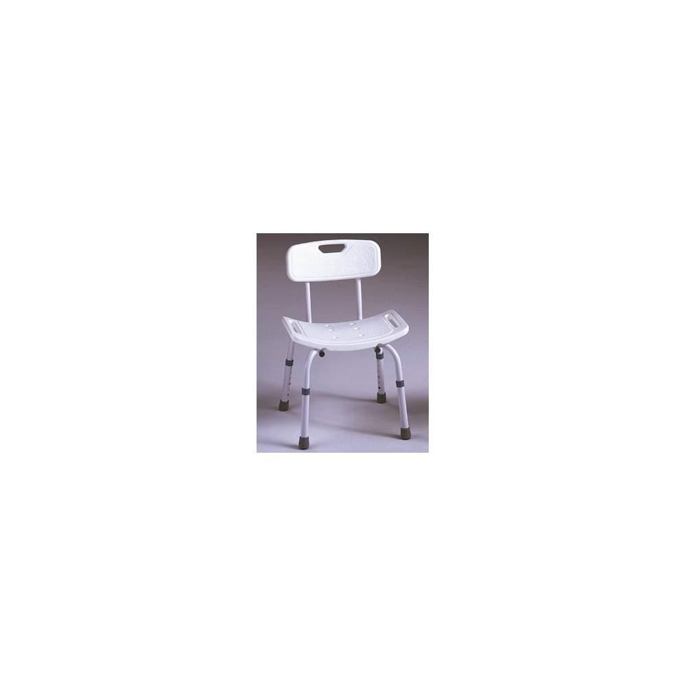 SAMBA bagno sedia - Full-indietro sedia, appositamente progettati per l'utilizzo in bagno. Il sedile ha integrato scarichi e maniglie per migliorare l'igiene e la sicurezza.