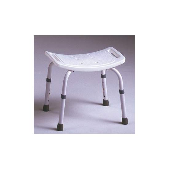 SAMBA STOOL - Backless stool, specially designed to be used in the bathroom. The seat has integrated drains and hand grips to improve hygiene and safety.