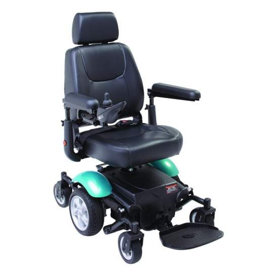 Silla de ruedas eléctrica R300 - La silla R300 de tracción central gira sobre su propio eje, ofreciendo un radio de giro realmente reducido de sólo 50 cm.