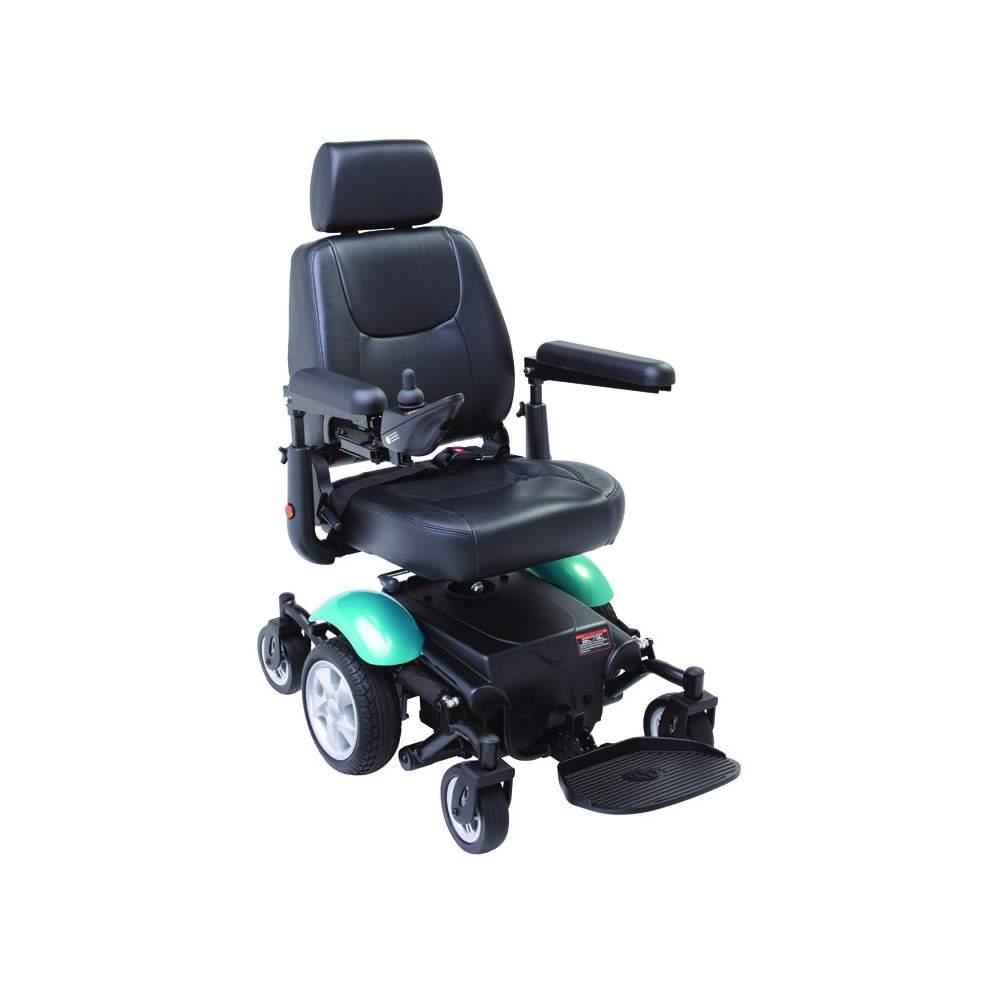Elétrica R300 cadeira de rodas - O núcleo cadeira tração R300 gira sobre seu próprio eixo, proporcionando um muito pequeno raio de giro de apenas 50 cm.