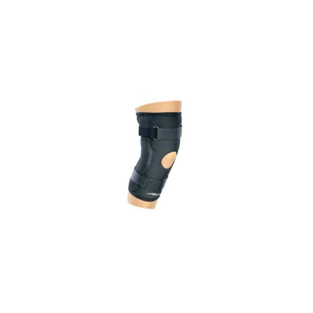 Donjoy ECONOMY HINGED KNEE WRAP DRYTEX® (WRAP) - The articulated knee Drytex® designed to control lateral instabilities means, isa alternative to neoprene. It is made of a unique nylon core and depoliéster and breathable Lycra...