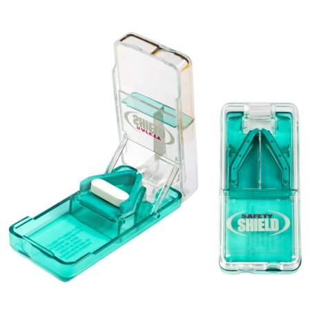 Pill splitter 'Safety Shield'