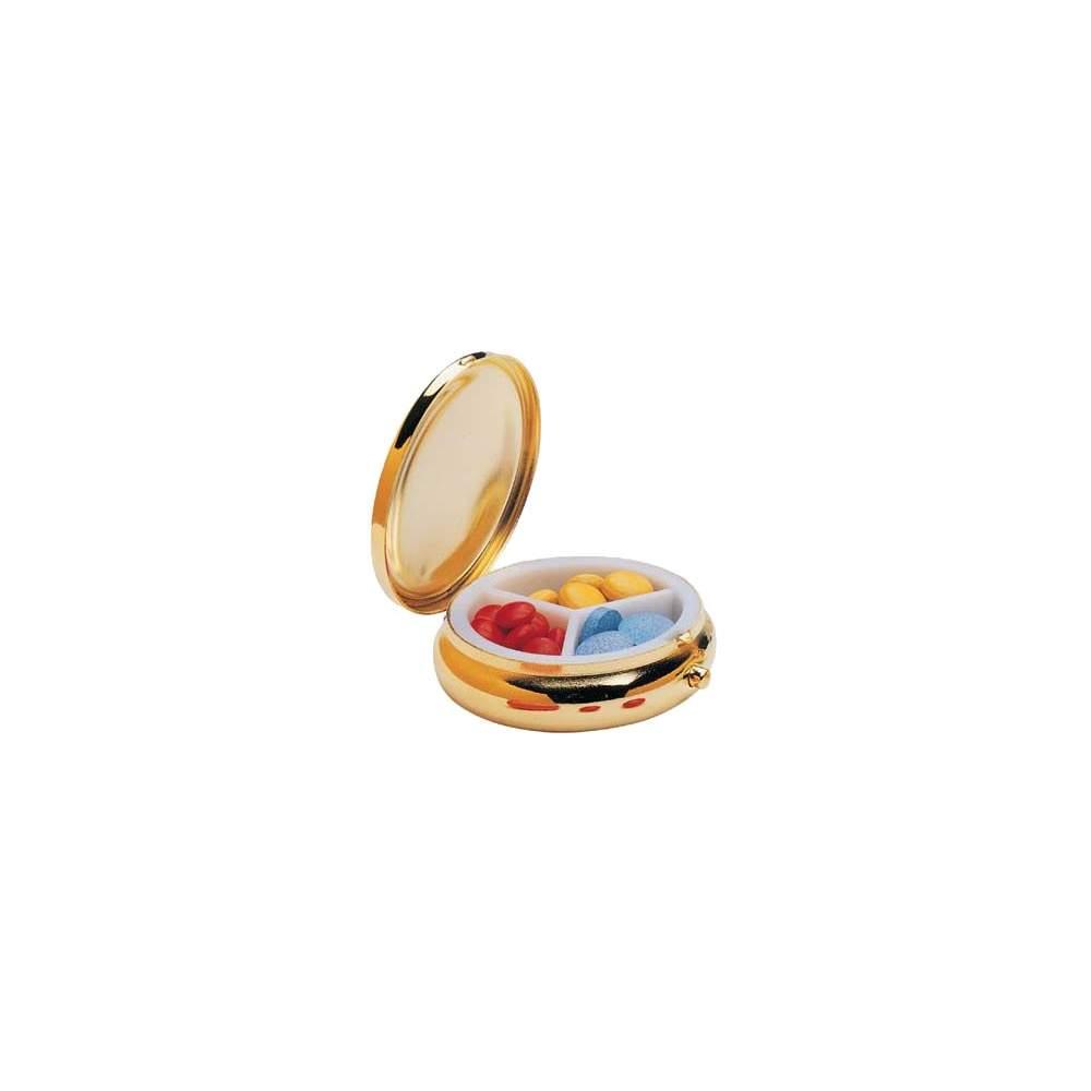 Pastillero diario 'Round Fashion' - Pastillero diario de tres tomas, discreto y elegante.