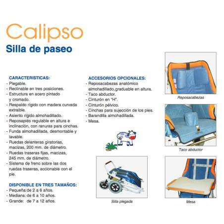 Silla pediátrica Calipso