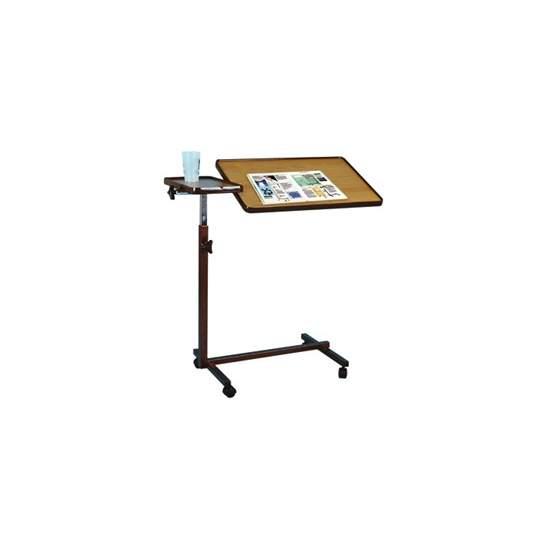 DUE PIANI tavolino - Il piano superiore inclinare fino a 90 ° in entrambe le direzioni, e la piccola, fisso. Bordo esterno al fine di evitare la caduta di oggetti.