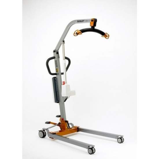 Grúa Sunlift Mini Eléctrica (130 Kg.) - Crane patient transfer Sunlift Mini Electric. Lifting capacity 130 Kg. Compact dimensions. Suitable for domestic use.