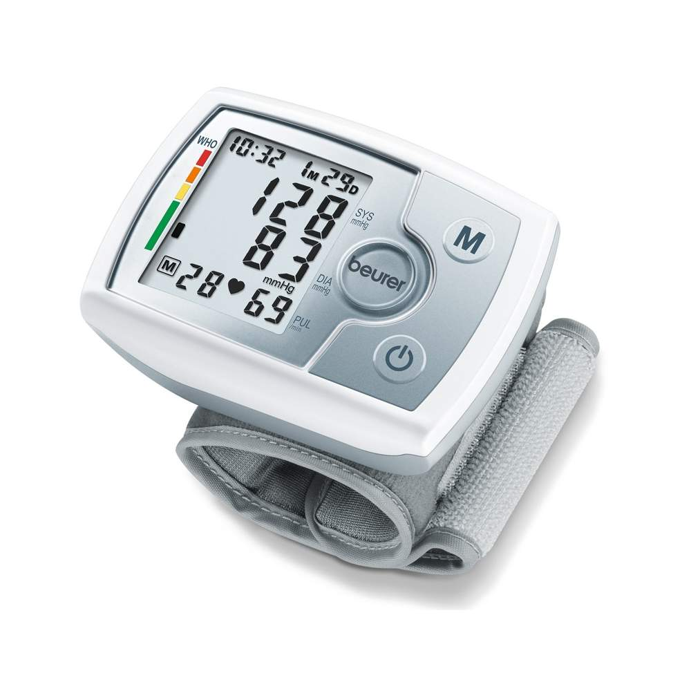 Tensiometer wrist BC 31 -  Measuring blood pressure and pulse fully automatic wrist  Large, easy to read display  60 memory