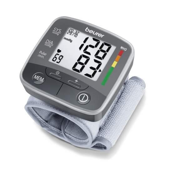Beurer bc 32 Monitor automatico di pressione sanguigna del polso -  Media di tutti i valori di misura memorizzati e mattina e sera la pressione sanguigna nei ultimi 7 giorni  Misura in braccio completamente automatico  Per i formati 13,5-19,5 cm bambola