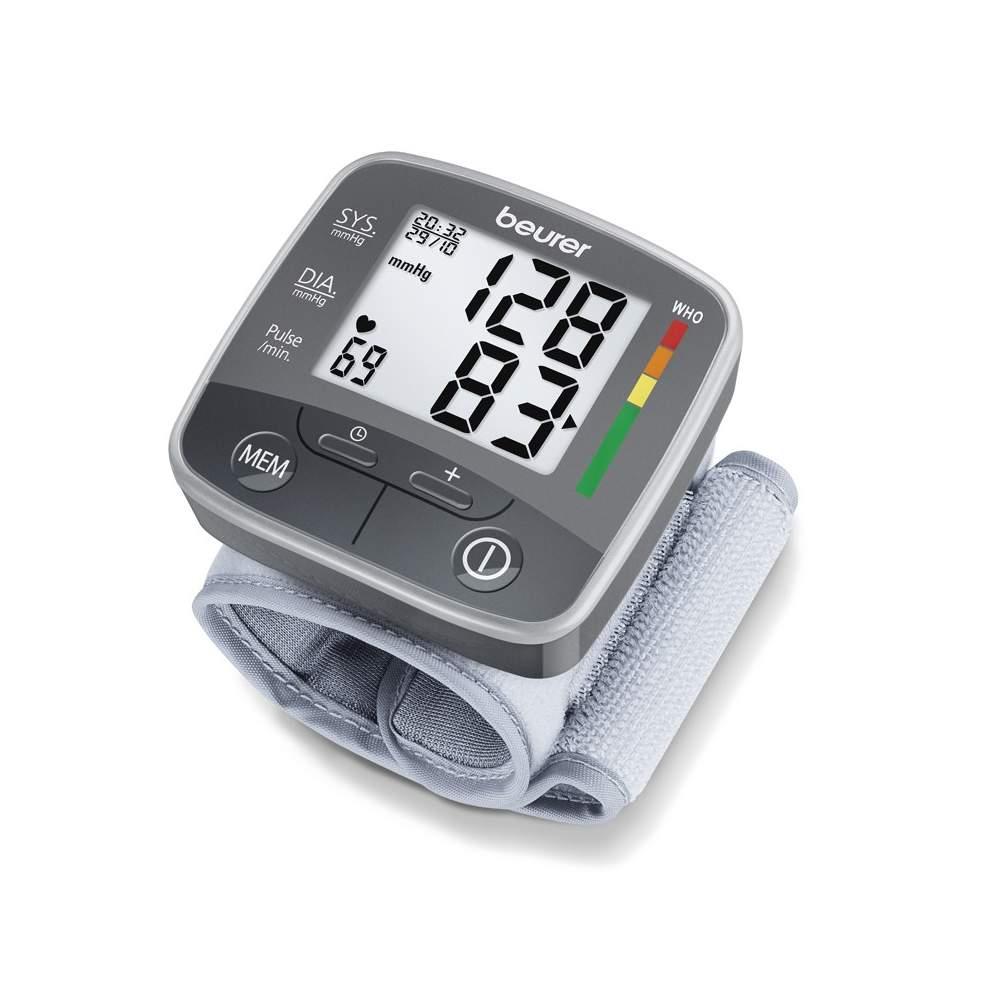Beurer bc 32 monitor de pressão arterial de pulso automático -  Média de todos os valores de medição armazenados e manhã e à noite a pressão arterial nos últimos 7 dias  Medição no braço totalmente automático  Para tamanhos de 13,5-19,5 cm...