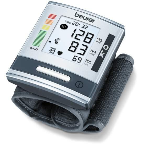 BC 60  Tensiómetro de muñeca -  Medición de la tensión sanguínea y de pulsaciones totalmente automática en la muñeca Nueva clasificación OMS y detección de arritmias Indicador grande y de fácil lectura
