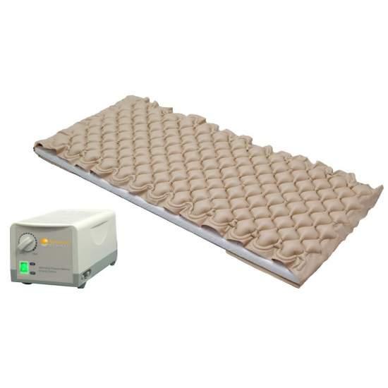 Colchon de Aire Antiescaras con Compresor y Regulacion de Presion - Silencioso compresor con salida de aire regulable. El colchón hincha y deshincha alternativamente sus celdas de 5cm.