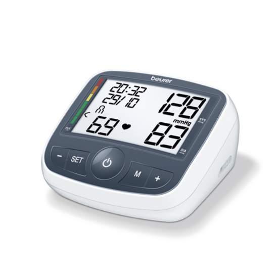 Tensiometro braccio BM40 -  Braccio pressione sanguigna  Misura in braccio completamente automatico  Grande, display di facile lettura  Avviso se errori di applicazione