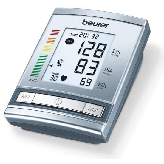 Tensiómetro digital BM 60 - Tensiómetro para el brazo  Medición en el brazo completamente automática Nueva clasificación OMS y detección de arritmias Cálculo del valor promedio