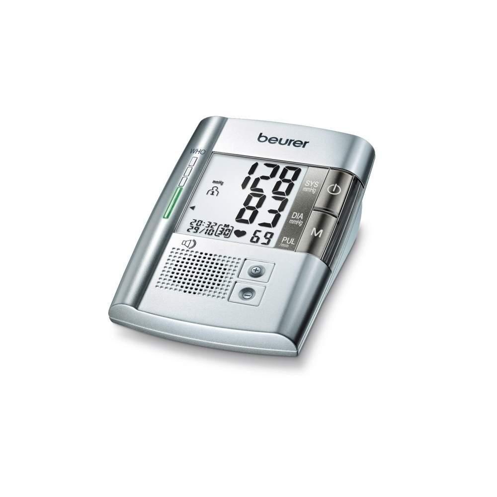 Tensiometro digital con voz BM19 - Tensiómetro para brazo con voz  Advertencia de posibles alteraciones del ritmo cardíaco (detección de arritmias) Clasificación OMS Medición en el brazo completamente...