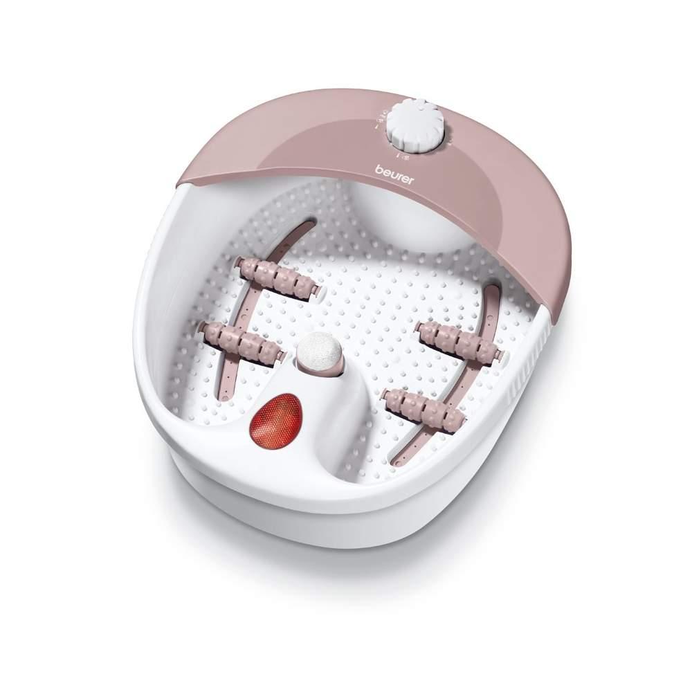 Bain de pieds à remous -  Pédiluve  Accessoires rouleau massage amovible réflexe massage des pieds  Massage vibrant douce  Pied de bain Bubble massage réflexe des pieds