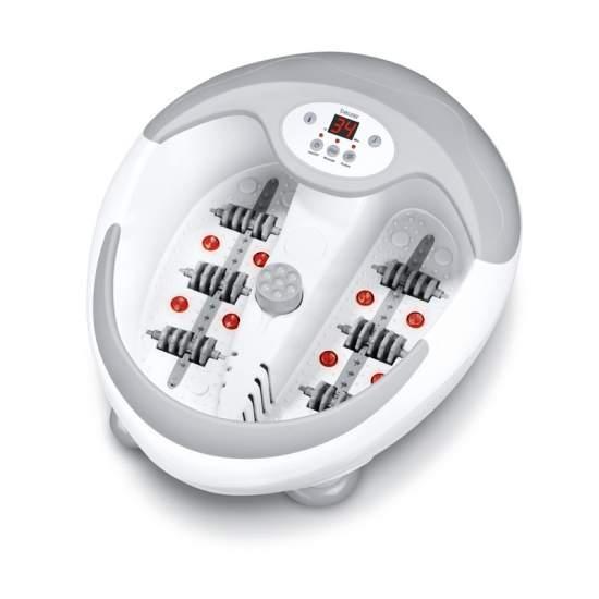 Piede vasca -  Bagno rilassante per i piedi  Bubble massaggio vibratorio  Confortevole regolazione della temperatura dell'acqua in 5 livelli (35 - 48 ° C)  Magnete integrato per la terapia del campo magnetico  Mulinello