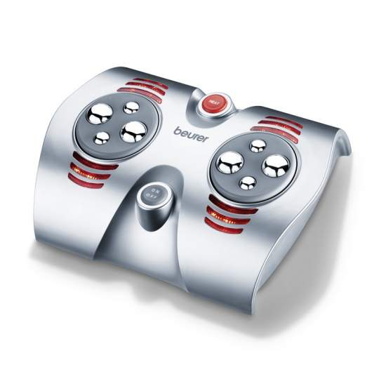 massage des pieds -  Vigoureux massage des pieds Shiatsu avec 8 rotatifs boules de massage  Rôle de la lumière et de la chaleur infrarouge  Stimule la circulation et détend les pieds