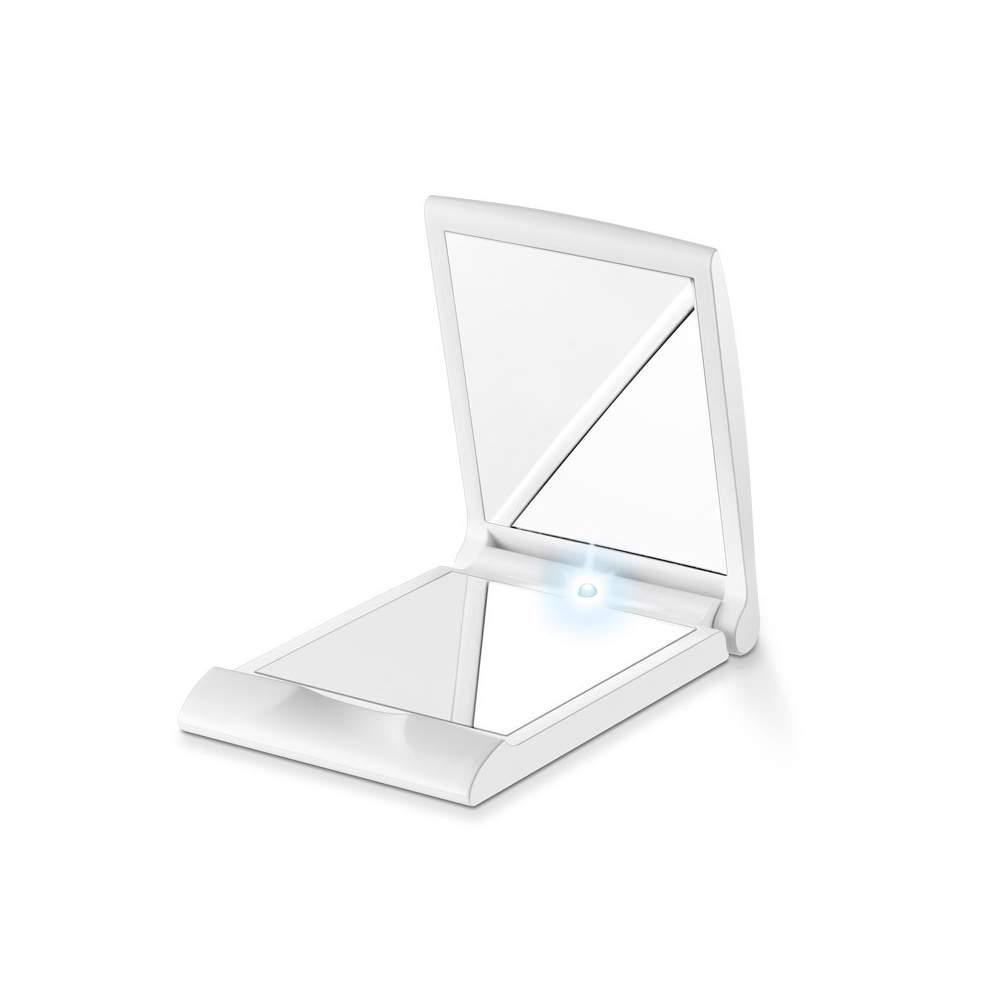 Espejo de bolsillo con luz -  Siempre perfecta, dondequiera que esté Pequeño y manejable en formato de maquillaje Cabe en cualquier bolso