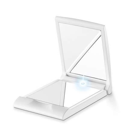 specchio della tasca con la luce