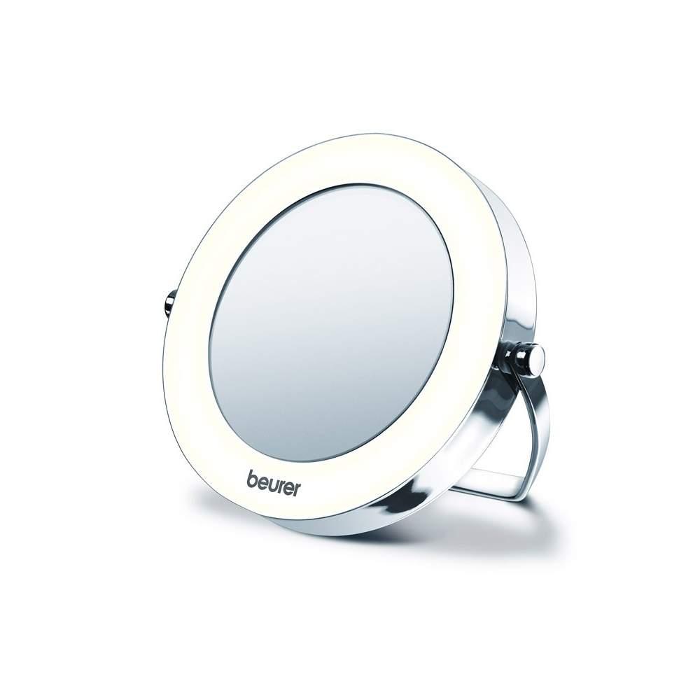 Specchio Pocket con la luce -  Piccolo e maneggevole, ideale per viaggiare  Alta qualità chrome  3X