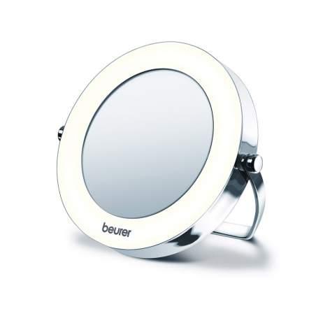 Miroir de poche avec la lumière