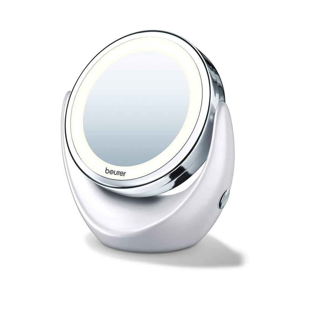 Espejo con luz -  2 superficies de espejo giratorias Normal / aumento de 5 veces Luz LED clara