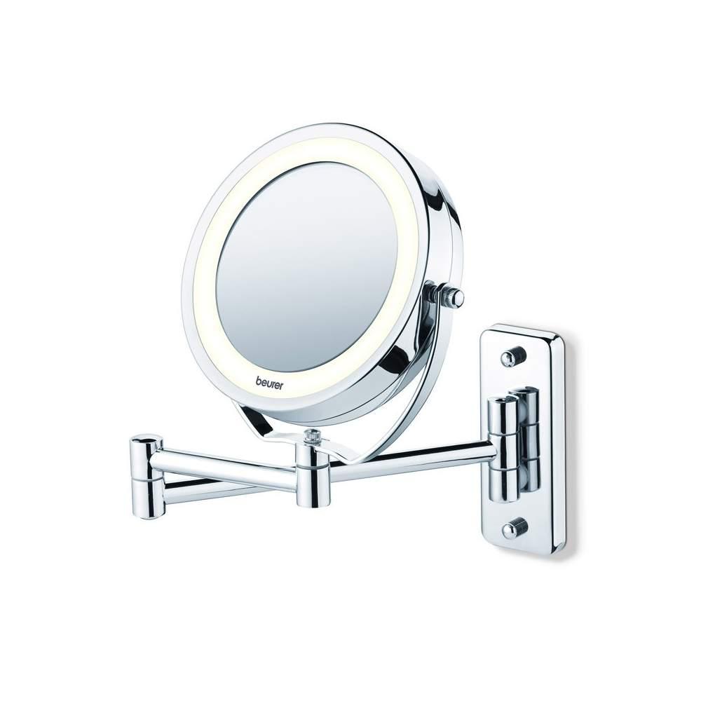 specchio cosmetico con la luce