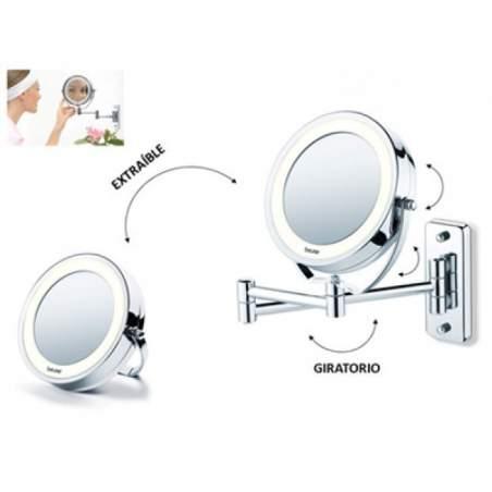 Espejo cosmético con luz