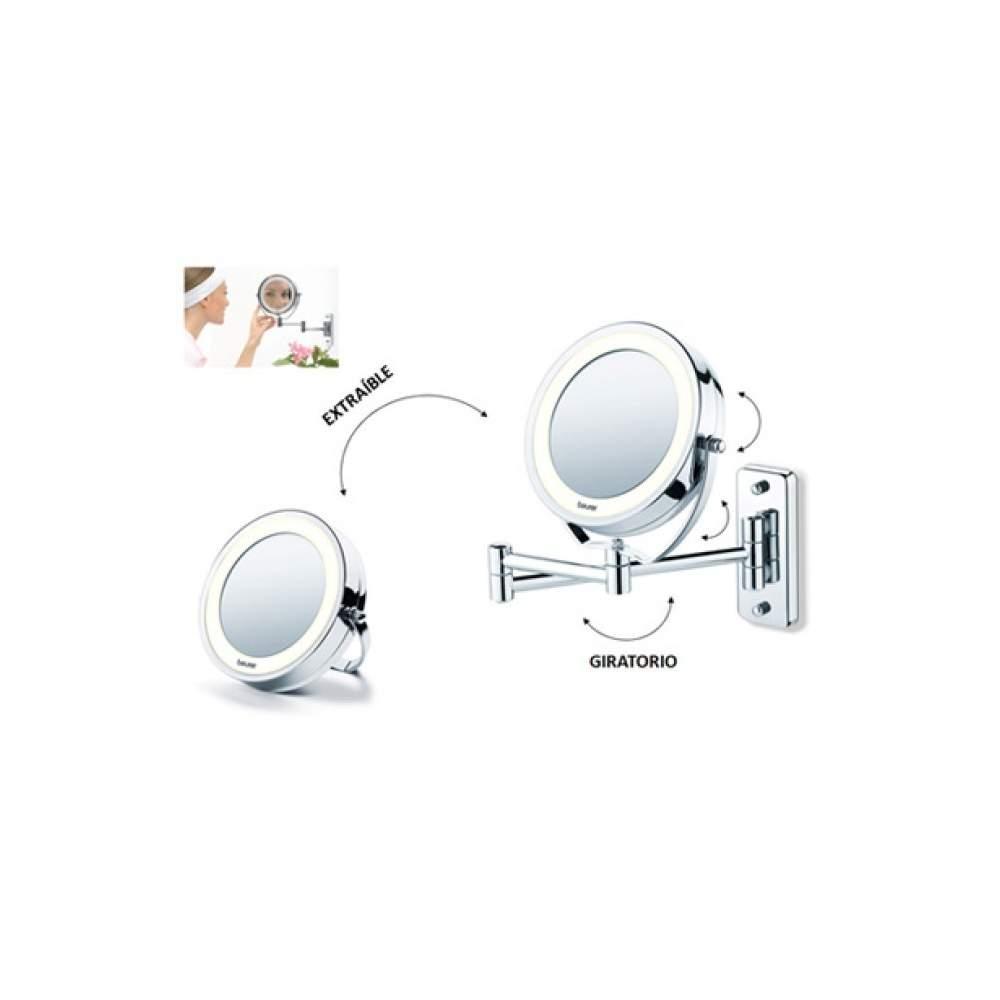 Miroir de maquillage avec la lumi re for Question miroir