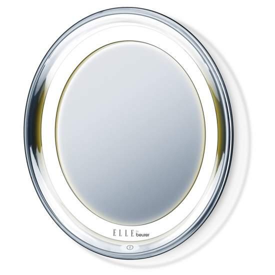 Espejo con luz - Espejo con luz  Luz LED clara Para la colocación flexible en superficies lisas con ventosas Posibilidad de montaje mural con tornillos