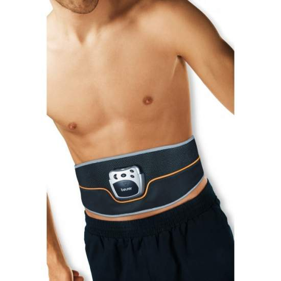 Cinturón estimulador de los músculos abdominales - Cinturón estimulador de los músculos abdominales  Muy fácil de utilizar Cinturón abdominal flexible con cierre de velcro Pantalla LCD con símbolos claros