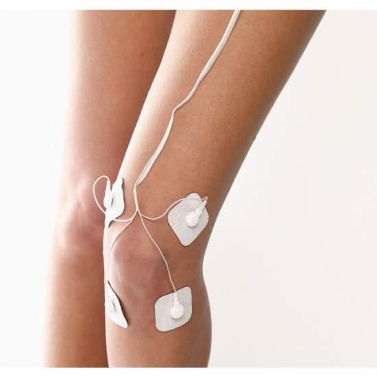 TENS d'électrostimulation -  appareil d'électrostimulation  3 en 1: TENS (nerfs, la douleur), EMS (muscle), massage (relaxation)  Quatre canaux distincts réglables avec huit électrodes autocollantes  30 applications pré-programmés (TENS / EMS / massage)