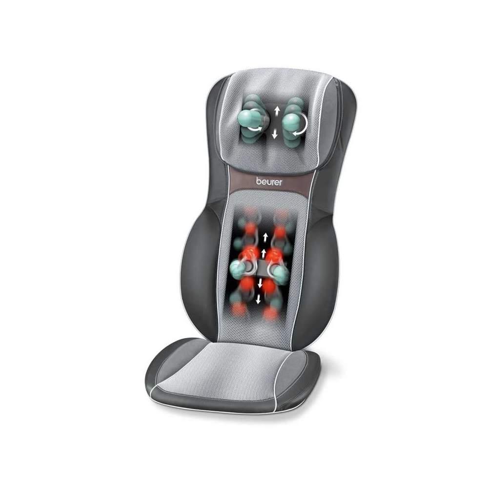 Asiento de masaje Shiatsu - Asiento de masaje Shiatsu  Masaje 3D de efecto profundo para la espalda Masaje localizado y parcial Agradable masaje de rodillos