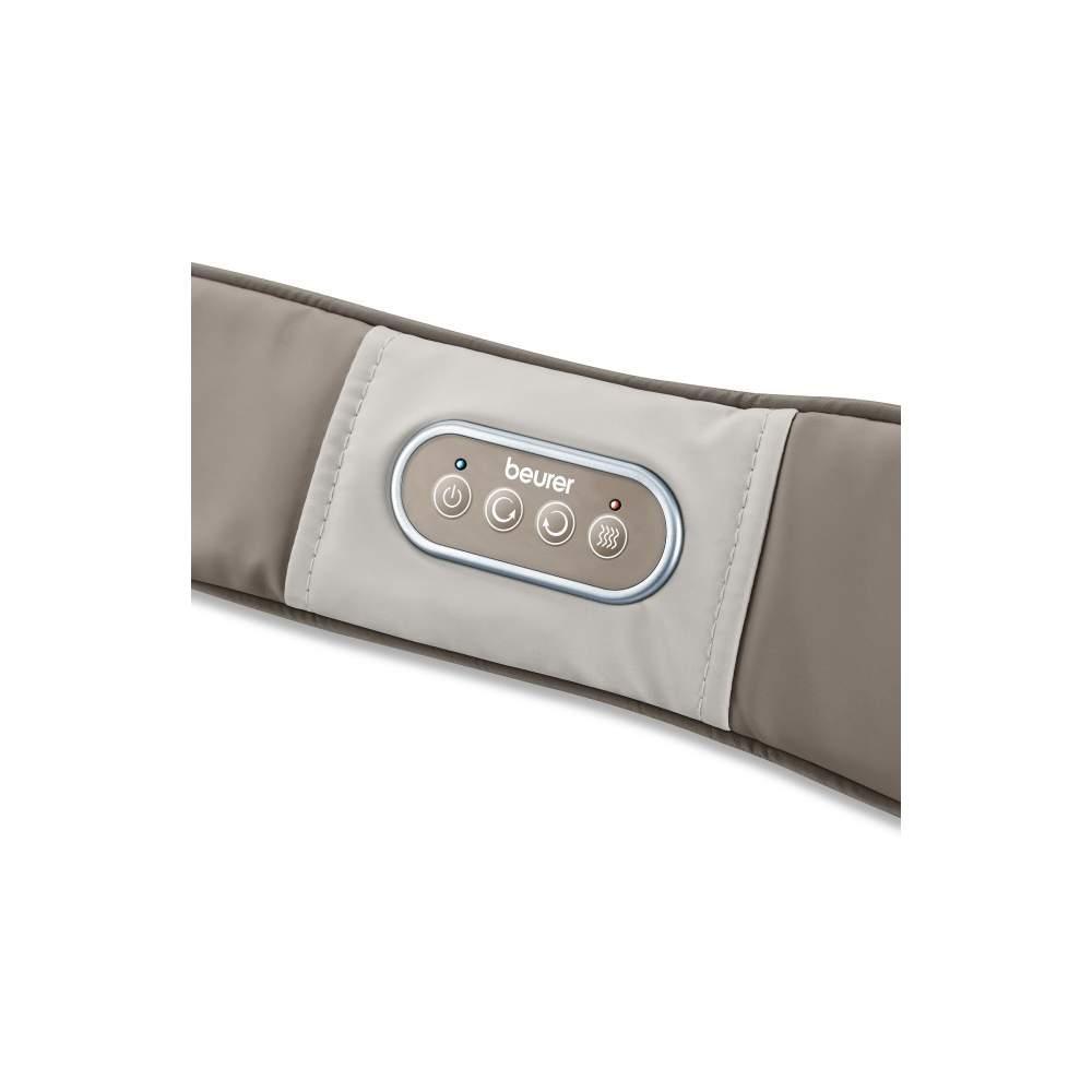 Masajeador múltiple con calor - Cinturón de masaje Shiatsu  Aplicación versátil y localizada Agradable masaje Shiatsu Utilización específica para la zona de los hombros y la nuca a la que es difícil llegar