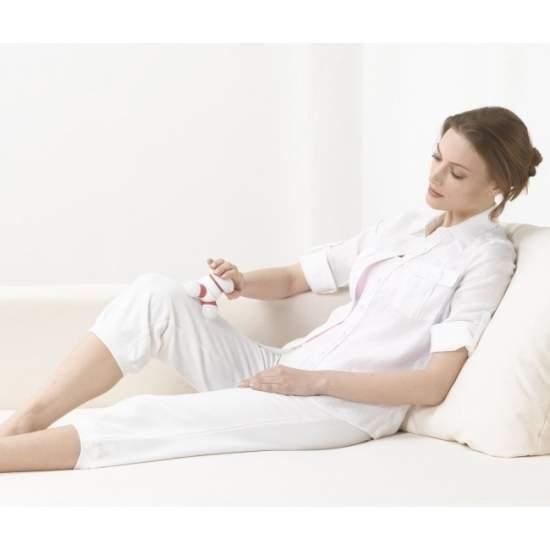 Mini massageador -  Massagem Miniaparato  Pequenos momentos de relaxamento  Massagem vibratória com três cabeças de massagem iluminados  Perfeito para uso em casa, no escritório ou na estrada