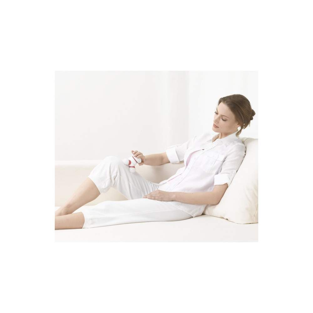 Mini masseur -  Miniaparato massage  Petits moments de détente  Massage vibrant avec trois têtes de massage lumineuses  Parfait pour une utilisation à la maison, au bureau ou sur la route