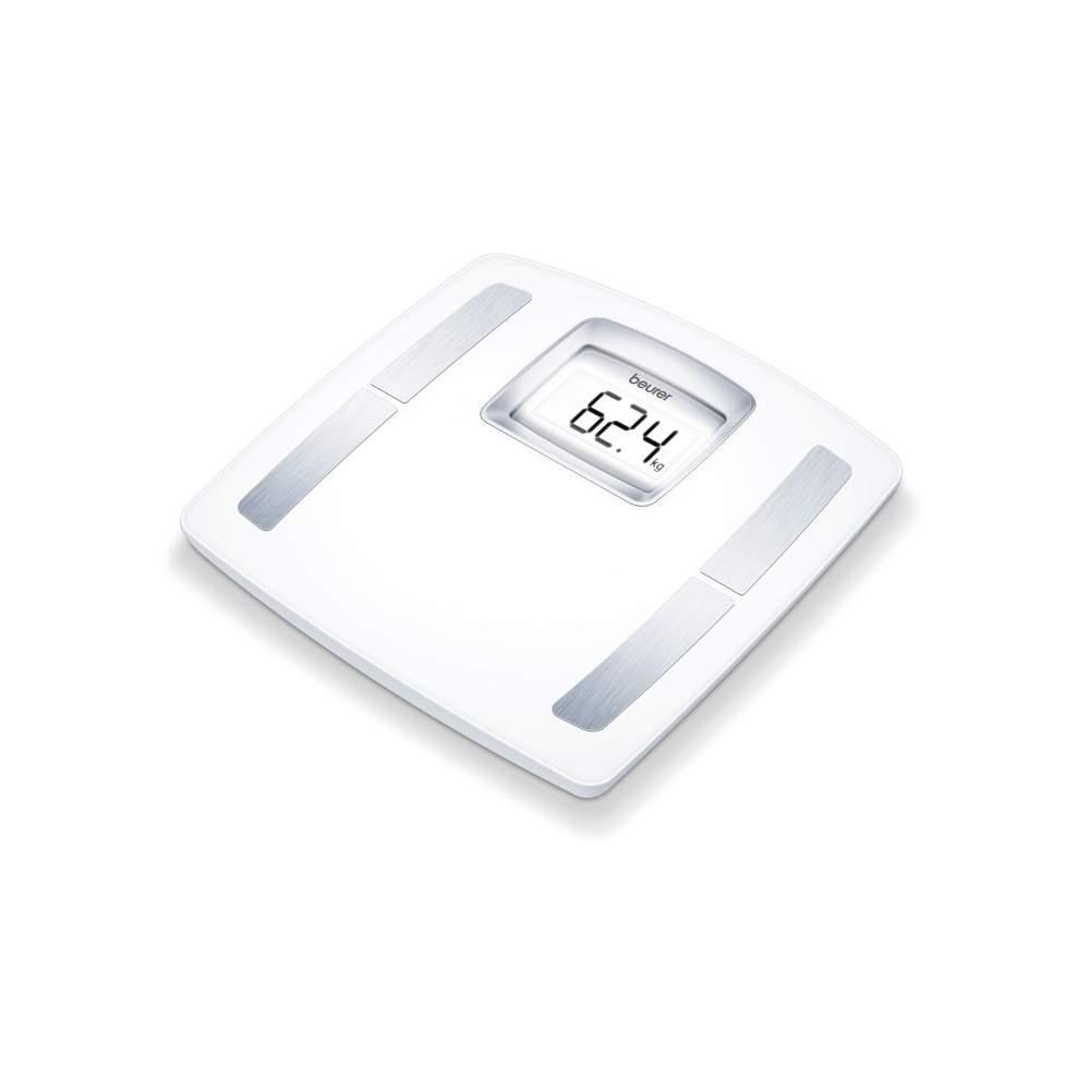 Báscula diagnóstica BF-400 Beurer - Básculas diagnósticas  Superficie de pesaje extragrande Indicador LCD especialmente grande Determinación de grasa corporal, agua corporal, porcentaje muscular, masa ósea,...