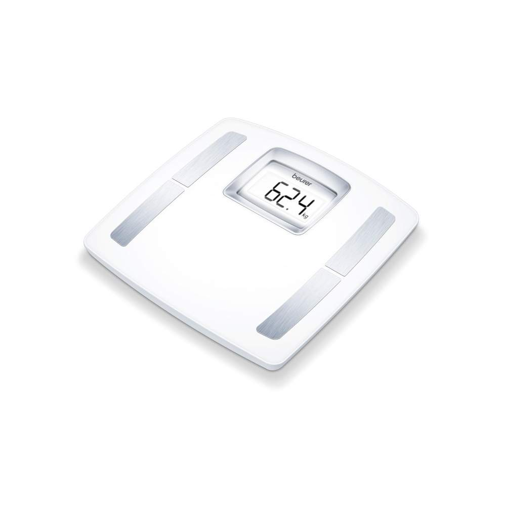 Diagnostic scale Beurer BF-400 -  Diagnostic Scales  King weighing surface  Especially large LCD display  Determination of body fat, body water, muscle percentage, bone mass, and calorie requirement ideal weight