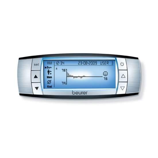Bilancia Beurer BF 100 -  Bilancia diagnostica completa del corpo  La misurazione accurata del corpo inferiore e superiore con 8 elettrodi.  150 kg di capacità  Radio indisturbati / valutazione grafica