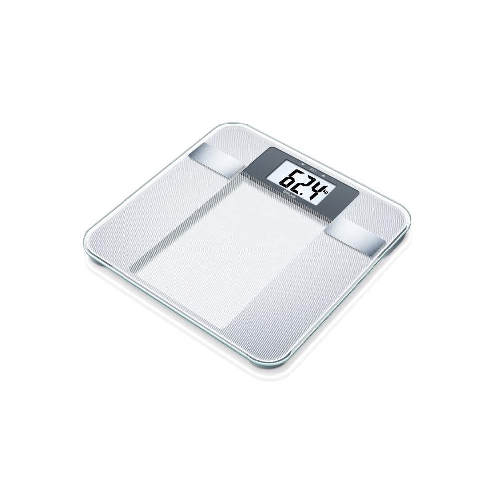 Glass diagnostic scale -  Glass diagnostic scale  Brushed stainless steel electrodes  Changing kg / lb / st  150 kg capacity