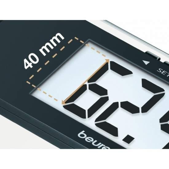 Pèse-personne impédancemètre en verre BG 17 -  Pèse-personne impédancemètre en verre BG 17  - Mesure de 150 kg / 100 gr.  - Très grand écran LCD de 40 mm.  - Arrêt automatique.  - Verre de sécurité (30 x 30 cm).  - Rapport 10 positions.