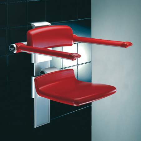 Adjustable swing seat for the bathroom