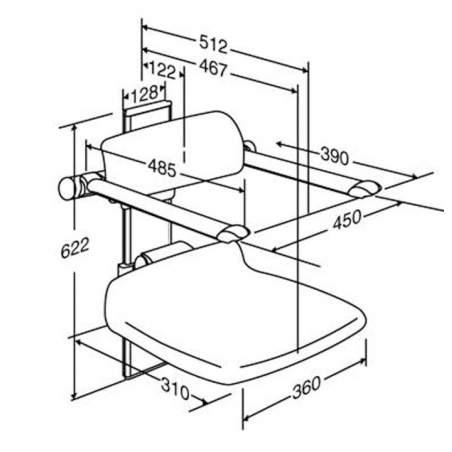 sedile pieghevole regolabile per il bagno