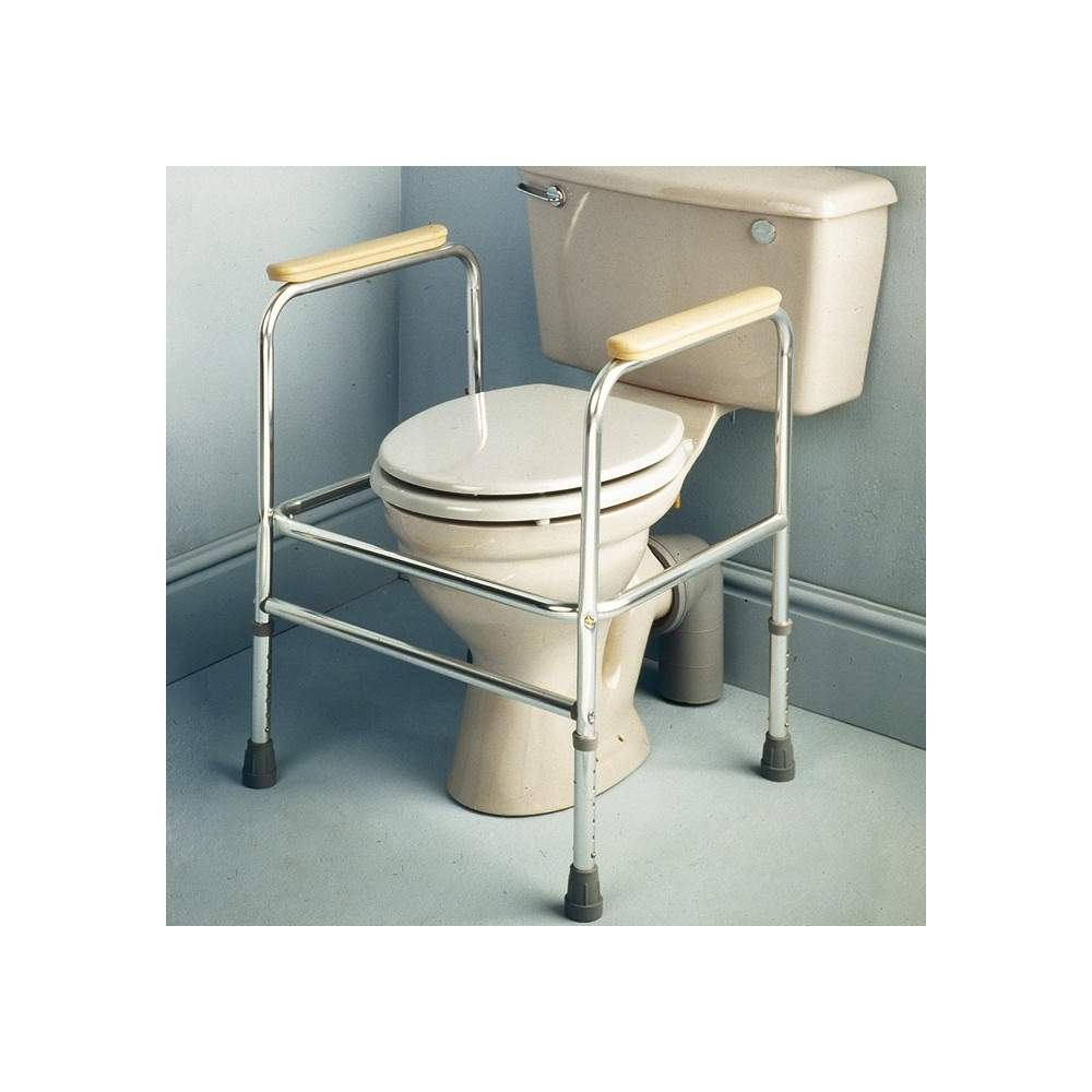 Reposabrazos auxiliares de aluminio para wc