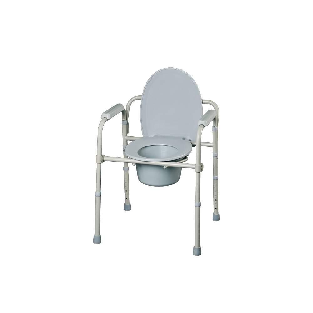 Service de pliage Maison - Ils peuvent être utilisés comme toilettes hauteur de levage réglable, en tant que président toilettes pour chambre à coucher (intègre un seau  gérer) et comme support auxiliaire...