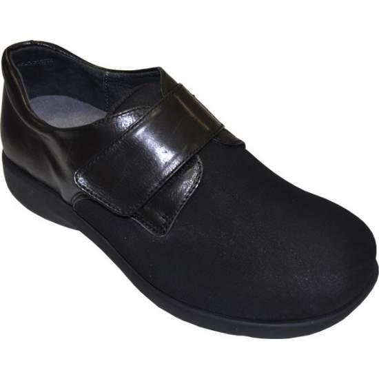 Scarpe comode per 1301 modelli modello - Scarpa in pelle con velcro (la signora), realizzato in Lycra pala / neoprene, pavimento in poliuretano ...