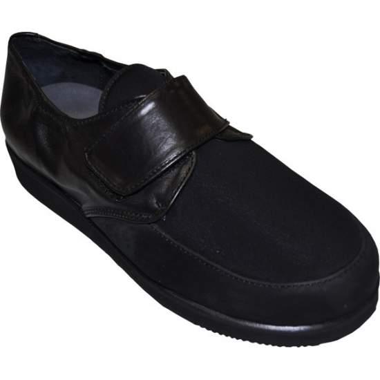 Chaussure confortable MODÈLE Modèle 1311 - Lady chaussure en cuir avec fermeture velcro combiné avec une pelle Lycra ® / néoprène, avec absorption des chocs ...