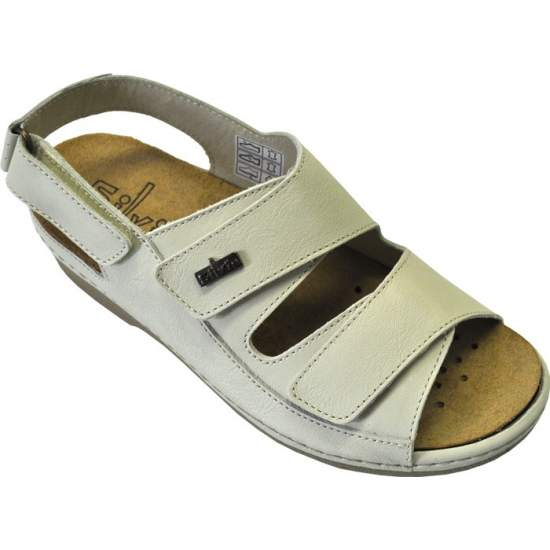 COMFORTABLE SHOE TEMPLATE Model Carmen - Sandal made of super-soft leather lining Kips pork, and removable.